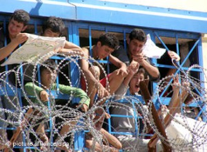 Lagar de azilanti in Grecia
