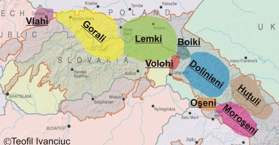 Distribuţia muntenilor din Carpaţii de Nord