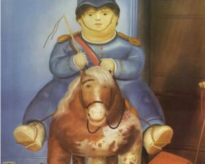 """Fernando Botero, """"Pedro on a Horse"""""""