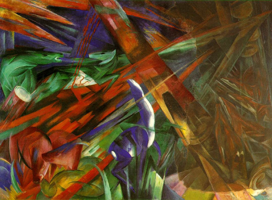 Franz Marc (1880-1916): Soarta animalelor (1913)