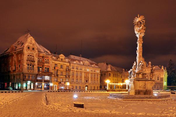 Monumentul Sfintei Treimi, iarna. Autor: usabin