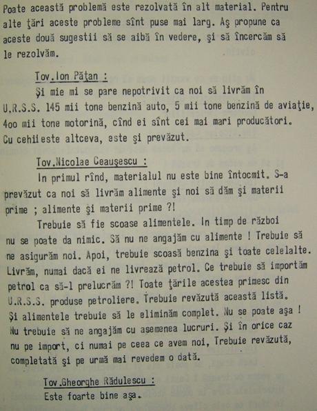 Exporturi potentiale de produse romanesti, in caz de razboi (1981-1985)